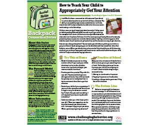 How to treat your child appropriately get your attention Newsletter