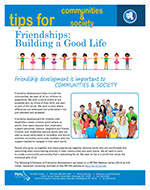 Cover Image of Tips for communities and society Friendships Building a Good Life newsletter, click for PDF