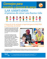 Cover Image of Tips for parents Friendships Building a Good Life newsletter, click for PDF in spanish