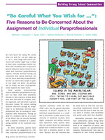 "Image of article ""Be careful what you wish for...""Five reasons to be concerned about the assignment of individual paraprofessionals"