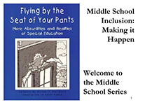 Image of pamphlet Middle school Inclusion:Making it Happen with PDF attachment