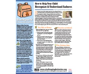 How to help your child recognize and understand sadness Newsletter