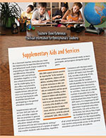 TDR Supplemental Aids and Services Image of newsletter