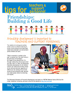 Cover Image of Friendships Building a Good Life newsletter, click for PDF