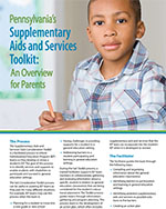 Image of Supplementary Aids and Services Toolkit with PDF attached