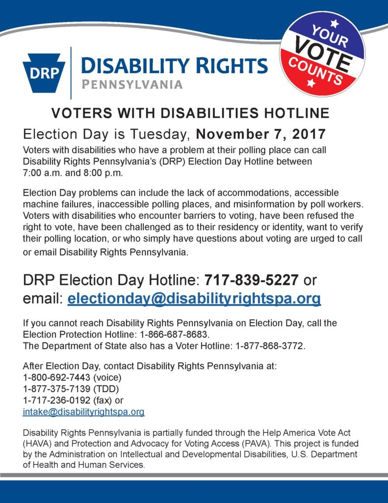 DRP Election Day Hotline