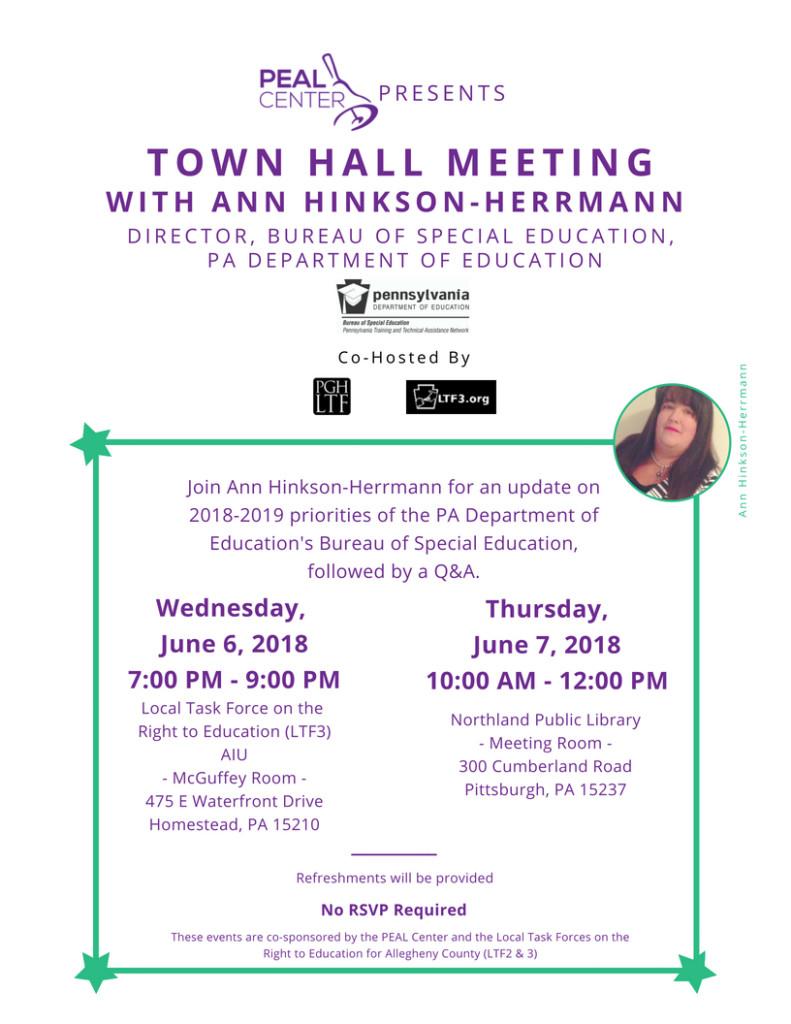 Town Hall with Ann Hinkson-Herrmann