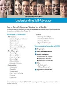 Understanding Self Advocacy