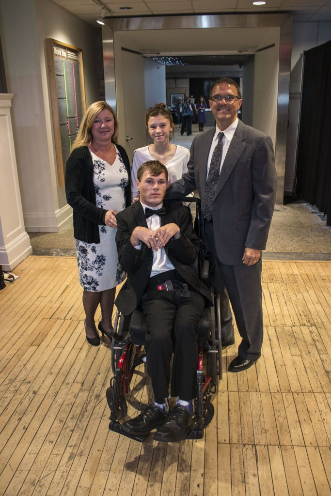 photograph of awardee Joshua Habecker and his family
