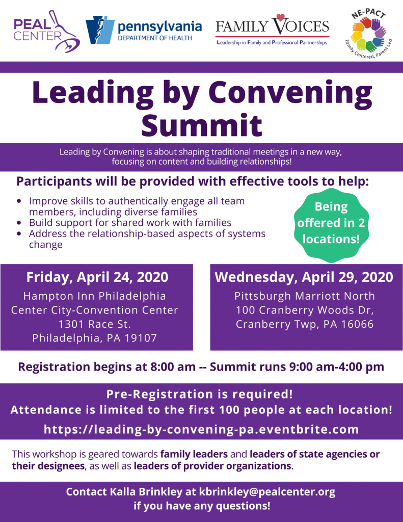 Leading by Convening Flyer